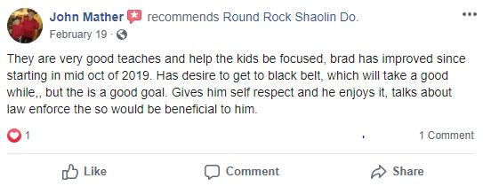 Prekids2, Round Rock Shaolin Kung Fu
